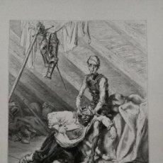 Arte: KK - LAMINA GRABADO DE DORE - DON QUIJOTE DE LA MANCHA - ORIGINAL EDITADA EN MEXICO AÑOS 50. Lote 79564129