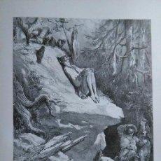 Arte: KK - LAMINA GRABADO DE DORE - DON QUIJOTE DE LA MANCHA - ORIGINAL EDITADA EN MEXICO AÑOS 50. Lote 79570725