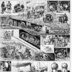 Arte: LAMINA ENCICLOPEDIA FRANCESA AÑOS 20. MINERIA. DIBUJOS B. BOMBLED.. Lote 79825345