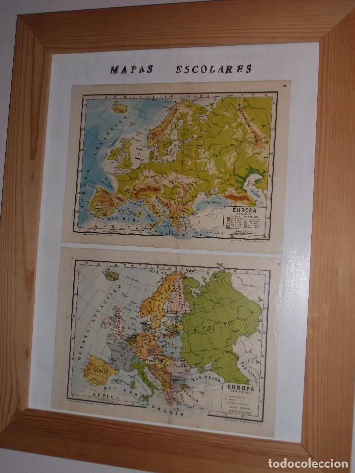 antiguos mapas escolares enmarcados. - Comprar Láminas Antiguas en ...