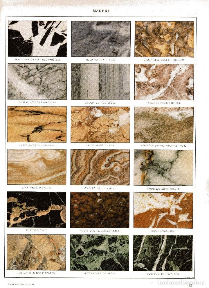 Lamina enciclopedia francesa a os 20 tipos de comprar for Diferentes tipos de marmol