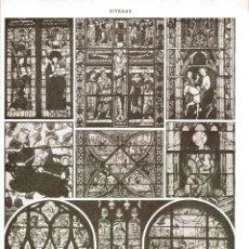 Arte: LAMINA ENCICLOPEDIA FRANCESA AÑOS 20. MINERIA. VIDRIERAS. . Lote 81721264