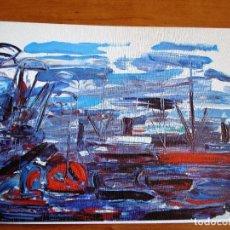 Arte: SIXTE BLACO ( LAMINA PUERTO AÑO 1971). Lote 82157328