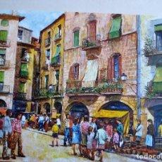 Arte: RAMON DE CAPMANY - PLAZA MAYOR DE VICH AÑO 1972. Lote 82158372