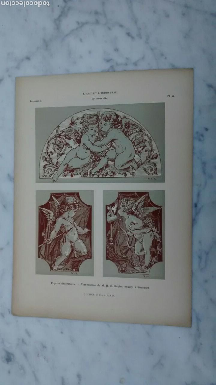 Arte: Lote de 300 láminas arte decoración siglo XIX - Foto 2 - 82289514