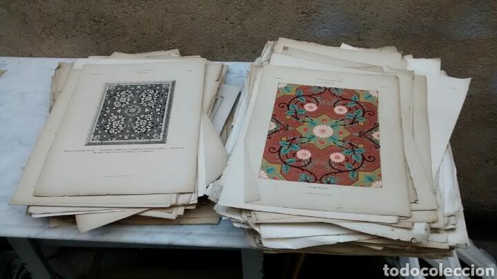 Arte: Lote de 300 láminas arte decoración siglo XIX - Foto 3 - 82289514
