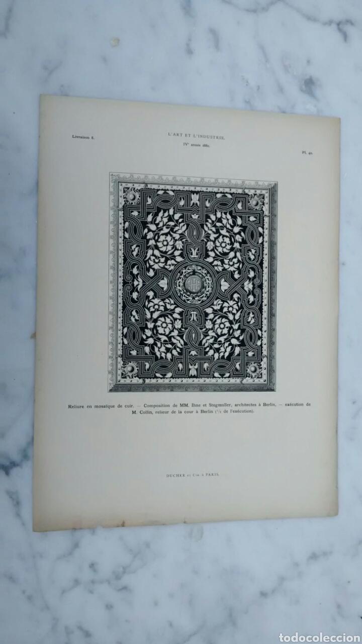 Arte: Lote de 300 láminas arte decoración siglo XIX - Foto 4 - 82289514