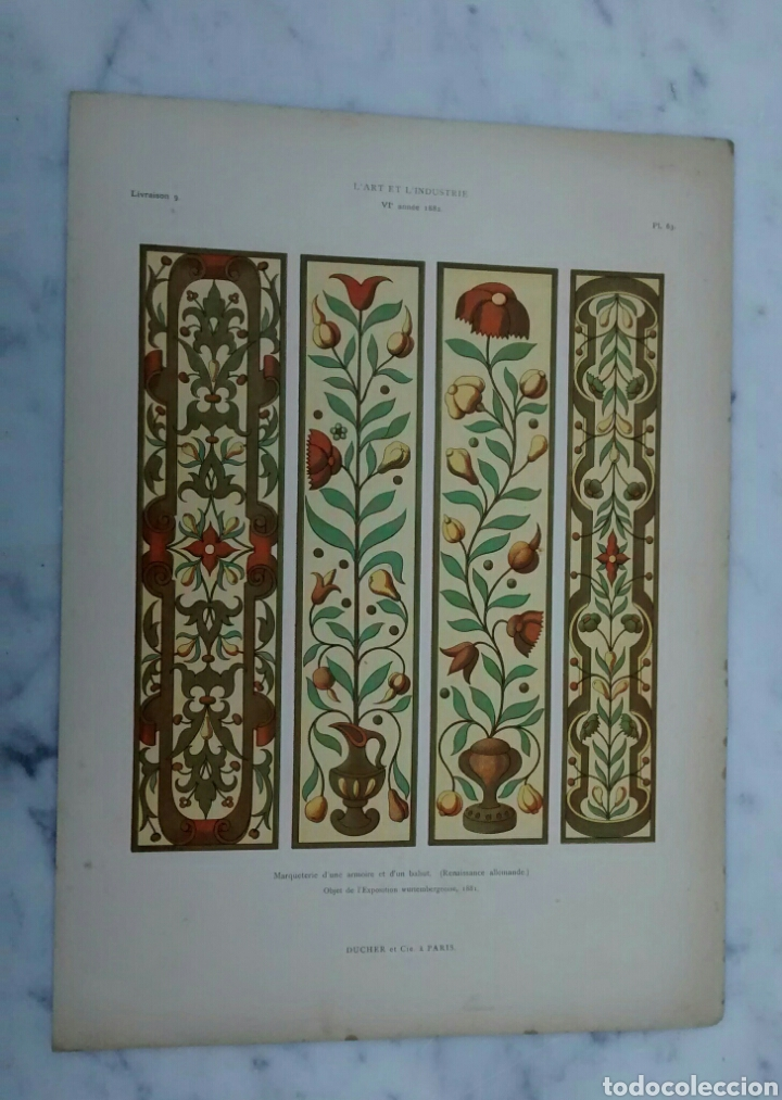Arte: Lote de 300 láminas arte decoración siglo XIX - Foto 5 - 82289514