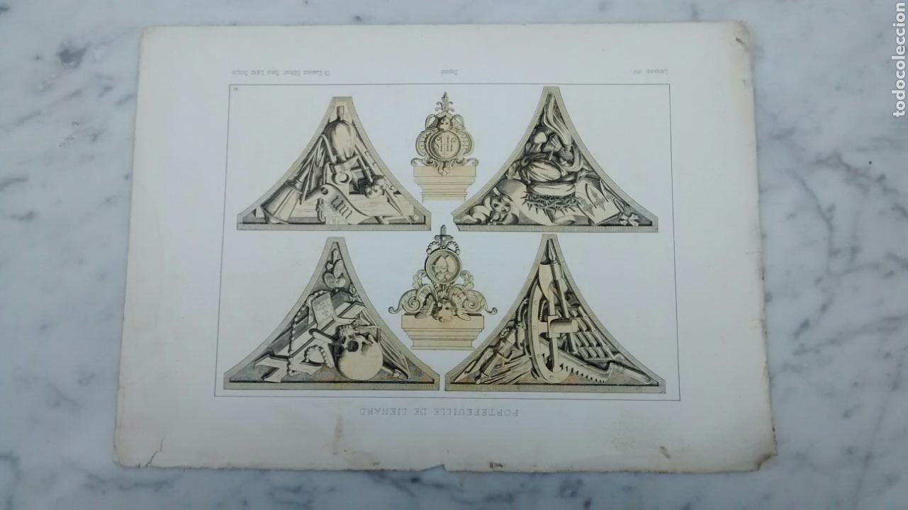 Arte: Lote de 300 láminas arte decoración siglo XIX - Foto 6 - 82289514