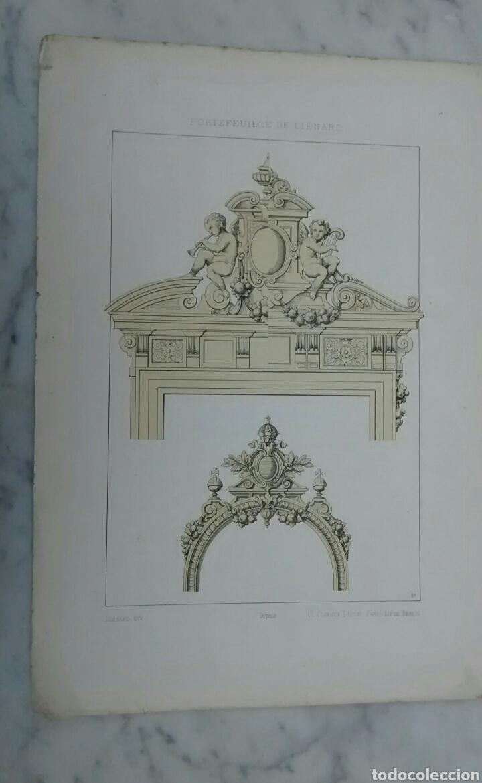 Arte: Lote de 300 láminas arte decoración siglo XIX - Foto 7 - 82289514