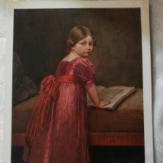 Arte: BELLISIMA Y ANTIGUA LAMINA ALEMANA UNICA DE CONSEGUIR.AUTOR: FRIEDRICH G. PAPPERITZ.LIESERL. Lote 82350830