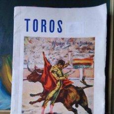 Arte: TAUROMAQUIA - TOROS DIBUJOS DE A. SANCHEZ , PRECIOSAS LAMINAS SEPARADAS CON PAPEL VEGETAL . Lote 82488020