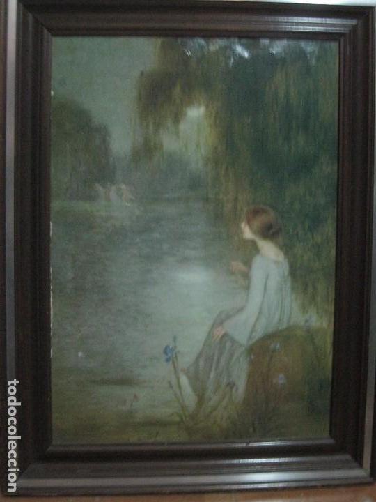 antiguo cuadro es lamina marco de madera 60 - Comprar Láminas ...