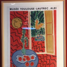Arte: POSTER HENRI MATISSE. MUSEE TOULOUSE-LAUTREC-ALBI. 1961. Lote 82859820