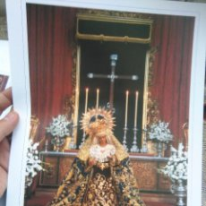 Arte: 32 X 23 CM GRAN LAMINA FOTOGRAFIA SEMANA SANTA SEVILLA VIRGEN DE LAS ANGUSTIAS. Lote 83161956
