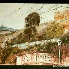 Arte: PINTURA DE A. ESTRADA VILARRASA - LAMINA REPRODUCCION - TEMA: BARCELONA EL TIBIDABO. Lote 84280644