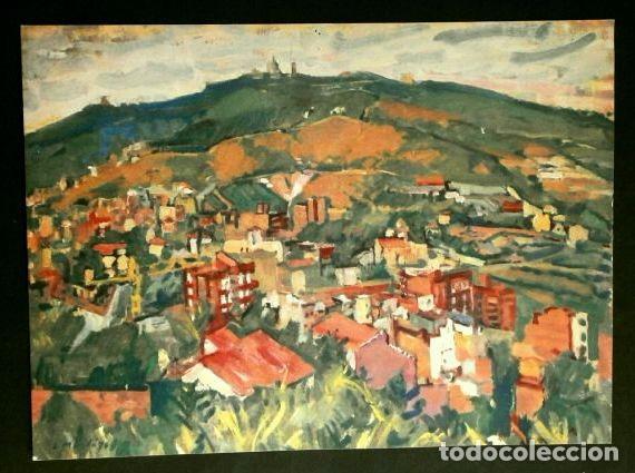 PINTURA DE I. MUNDO - LAMINA REPRODUCCION - TEMA: BARCELONA EL TIBIDABO (Arte - Láminas Antiguas)