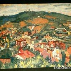 Arte: PINTURA DE I. MUNDO - LAMINA REPRODUCCION - TEMA: BARCELONA EL TIBIDABO. Lote 84280760