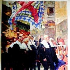 Arte: CARTEL LAMINA DE SERIGRAFIA DE SOROLLA - CONSEJO DEL RONCAL DE NAVARRA - 1914 TAMAÑO 67 X 46 CMS. Lote 84653436