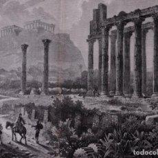 Arte: ALBUM ARTISTICO 1882-83, LAMINA: LAS RUINAS DE ATENAS. Lote 84723164