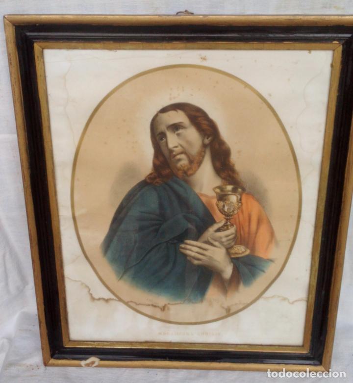 JESUCRISTO CON CALIZ - LAMINA ANTIGUA - A.PINGOT - PRINCIPIOS DE 1900 ........... ZXY (Arte - Láminas Antiguas)