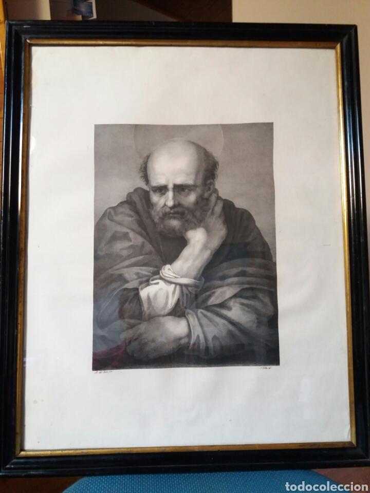 IMPRESIÓN ANTIGUA ENMARCADA 55×67 CMS (Arte - Láminas Antiguas)