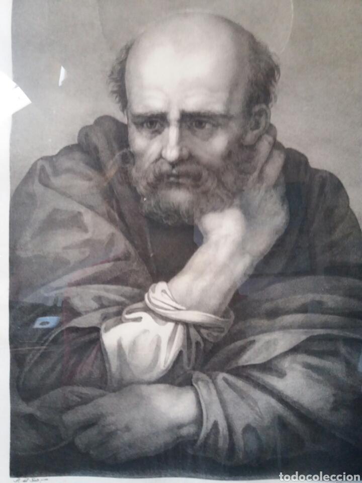 Arte: Impresión antigua enmarcada 55×67 cms - Foto 2 - 86493702