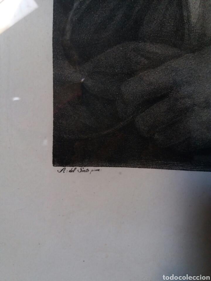 Arte: Impresión antigua enmarcada 55×67 cms - Foto 3 - 86493702