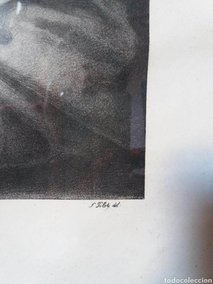 Arte: Impresión antigua enmarcada 55×67 cms - Foto 4 - 86493702
