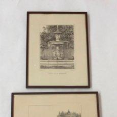 Arte: PAR LITOGRAFIAS GRABADO DE J. CEBRIAN Y E. DE LELTRE LITOGRAFIADAS DONON Y HERALDICA LITOGRAFIA. Lote 88354884