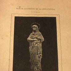 Arte: ANTIGUA LAMINA. ALBUM ARTISTICH DE LA RENAIXENSA. MATER DOLOROSA. AGUSTI QUEROL. Lote 88865956