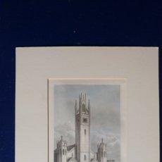 Arte: LÁMINA NEW CHURCH, HAGGESTONE S. XIX.. Lote 89398400