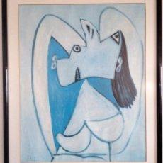Arte: LÁMINA Y MARCO DE OBRA DE PICASSO. Lote 89719684