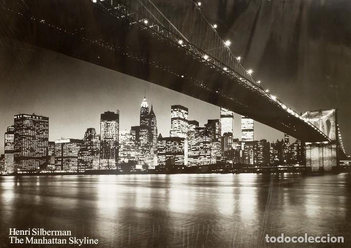 TOTALMENTE AGOTADO ENORME POSTER NEW YORK THE MANHATTAN SKYLINE DE HENRI SILBERMAN (Arte - Láminas Antiguas)