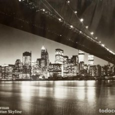 Arte: TOTALMENTE AGOTADO ENORME POSTER NEW YORK THE MANHATTAN SKYLINE DE HENRI SILBERMAN. Lote 90741760