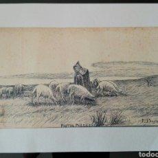 Arte: LAMINA REPRODUCCION DIBUJO JOAQUIM VAYREDA - 42 X 30. Lote 91537530