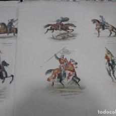 Arte: LOTE 3 LÁMINAS GRANDES LITOGRAFÍA CABALLERÍA MILITAR SIGLO XIX. VER FOTOS. Lote 92421420