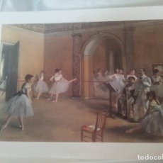 Arte: LAMINA ENSAYO DE DANZA EN LA OPERA. Lote 92880100