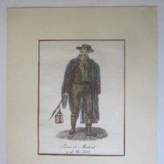 Arte: SERENO DE MADRID EN EL AÑO 1832. Lote 94103990