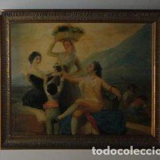Arte: LÁMINA DE GOYA ENMARCADA. LA VENDIMIA.. Lote 94374422