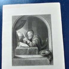 Arte: LAMINA THE WRITING MASTERS S. XIX.. Lote 95063838