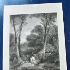 Arte: LAMINA THE WAY TO CHURCH S. XIX.. Lote 95089871
