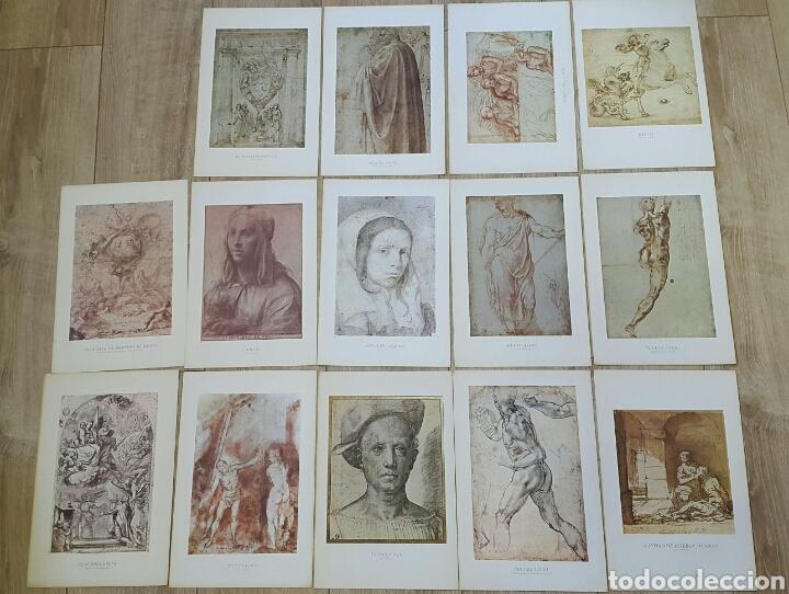 15 LÁMINAS GRANDES PINTORES. RAFAEL, MIGUEL ANGEL, MURILLO, VELAZQUEZ, ETC (Arte - Láminas Antiguas)