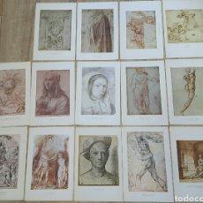 Arte: 15 LÁMINAS GRANDES PINTORES. RAFAEL, MIGUEL ANGEL, MURILLO, VELAZQUEZ, ETC. Lote 95212326
