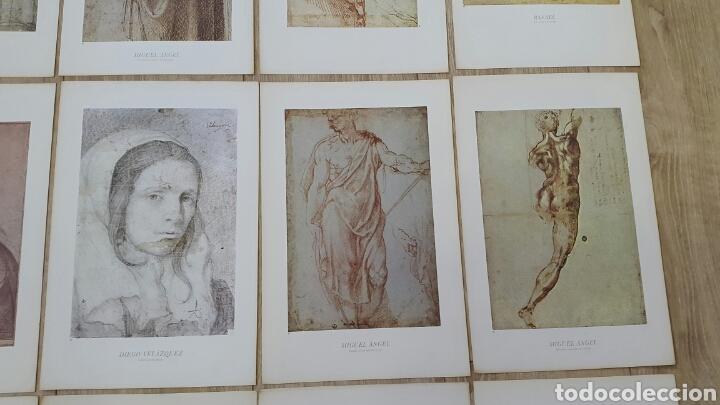 Arte: 15 LÁMINAS GRANDES PINTORES. RAFAEL, MIGUEL ANGEL, MURILLO, VELAZQUEZ, ETC - Foto 5 - 95212326