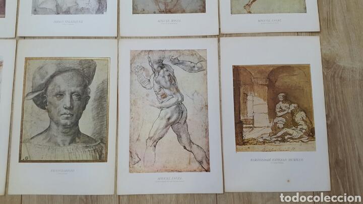 Arte: 15 LÁMINAS GRANDES PINTORES. RAFAEL, MIGUEL ANGEL, MURILLO, VELAZQUEZ, ETC - Foto 7 - 95212326