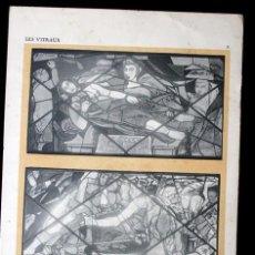Arte: LAMINA VIDRIERA - 1925 - 32,5X25CM - A. CINGRIA . Lote 95297927