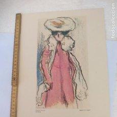 Arte: FIGURA DE MUJER.. LAMINA XXXIII MUSEO PICASSO. BARCELONA. S.P.A.D.E.M. PARIS 1972. Lote 95536891