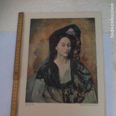 Arte: RETRATO DE LA SEÑORA CANALS. LAMINA XVI MUSEO PICASSO. BARCELONA. S.P.A.D.E.M. PARIS 1972. Lote 95537059