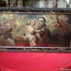 Arte: CUADRO ANTIGUO DE SAN ANTONIO CON EL NIÑO JESUS. Lote 116128808